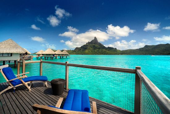 Honeymooned here!  Hope to go back for our 10th anniversary!!!!  Le Meridien Bora Bora - Overwater Bungalow Terrace