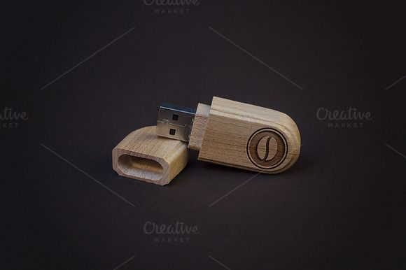 Flash Drive Engraved Logo MockUp by attraax on @creativemarket