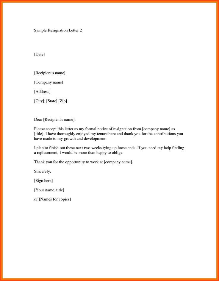 Cele Mai Bune  De Idei Despre Resignation Letter Format Numai