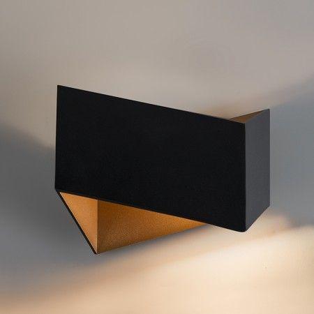 Kinkiet Fold czarny ze złotym