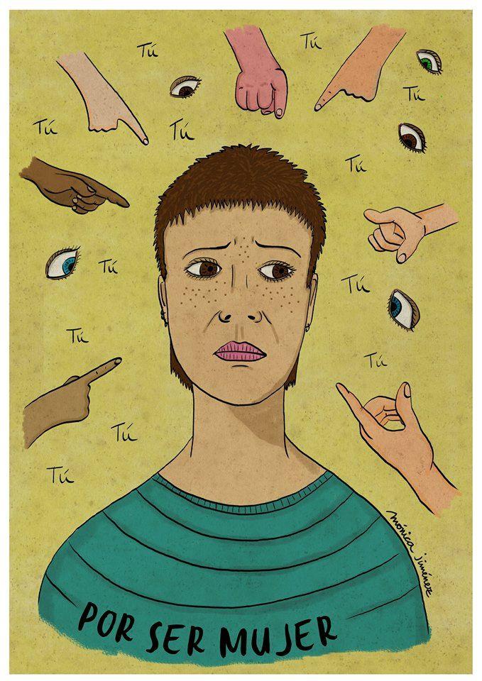 Ilustración digital Por ser mujer Mónica Jiménez