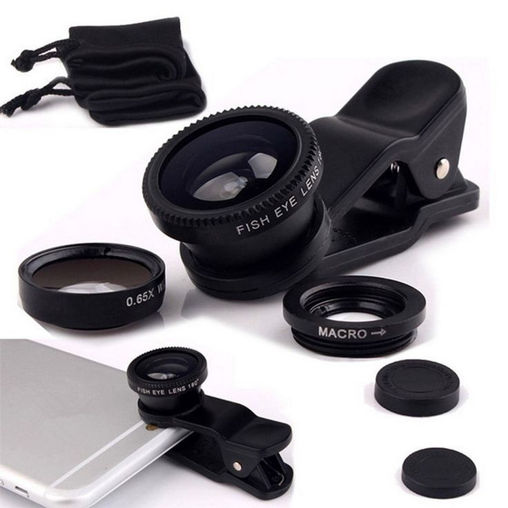 Lentes de ojo de Pez Universal 3 en 1 Clip de Teléfono Móvil de Pescado ojo de gran angular macro lente de la cámara para smartphone iphone 6 microscopio