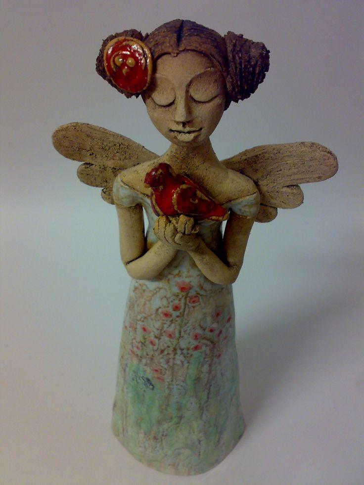 anděl s ptáčkem