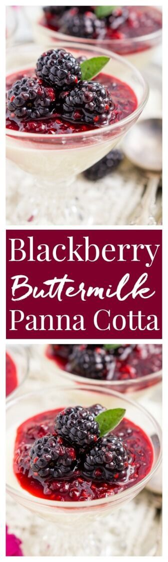 blackberry buttermilk panna cotta buttermilk panna cotta blackberry ...