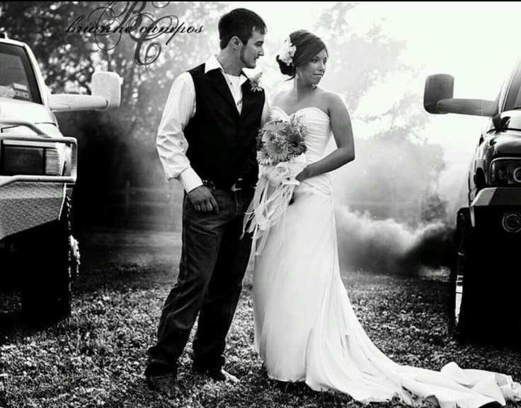 Diesel Wedding. I'm sure this will happen! Love it!