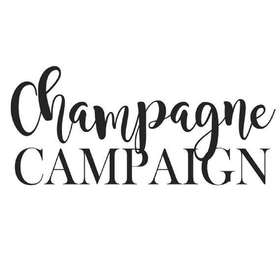 Champagne Campaign Iron On Decal - Bachelorette Party - Bride Gift - Bride Shirt - Bride Tank Top - Bridesmaid Gift - Tote Bags - Applique