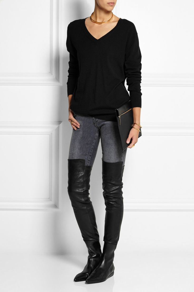 Roland Mouret | Aigret leather over-the-knee boots | NET-A-PORTER.COM