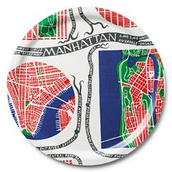 Cool Manhattan tray from Svenskt Tenn. Classic Josef Frank print.