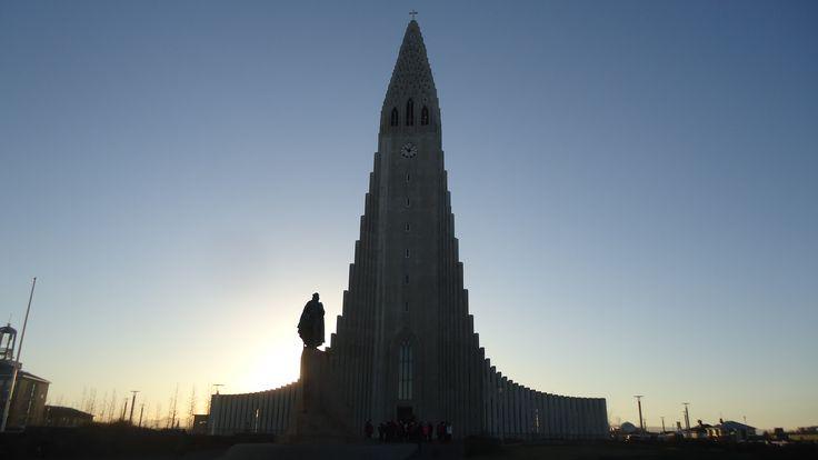 Visiting the main #church of #Reykjavik, #Iceland.
