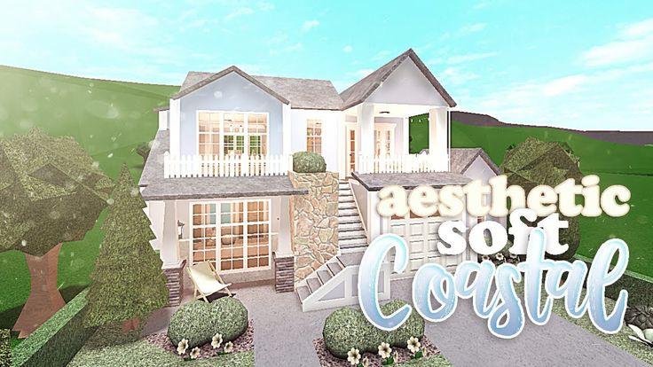 Aesthetic Soft Coastal House | BLOXBURG - YouTube in 2020 ...