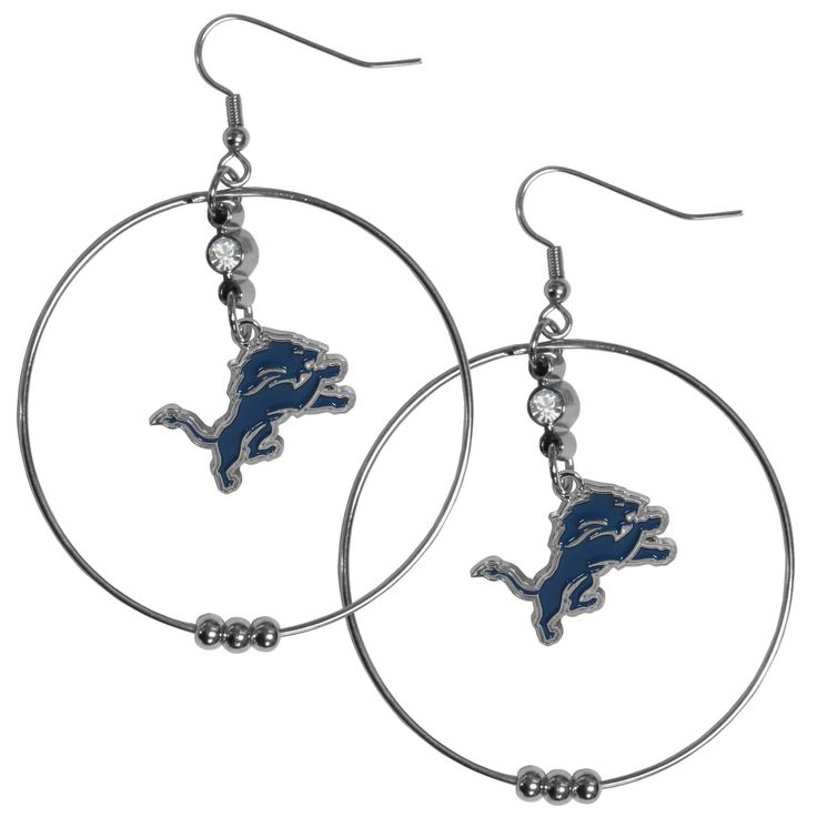 Siskiyou NFL Detroit Lions 2-inch Hoop Earrings