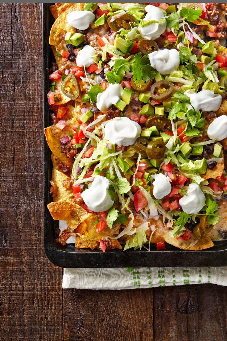 Friday Night Loaded Nachos  - CountryLiving.com