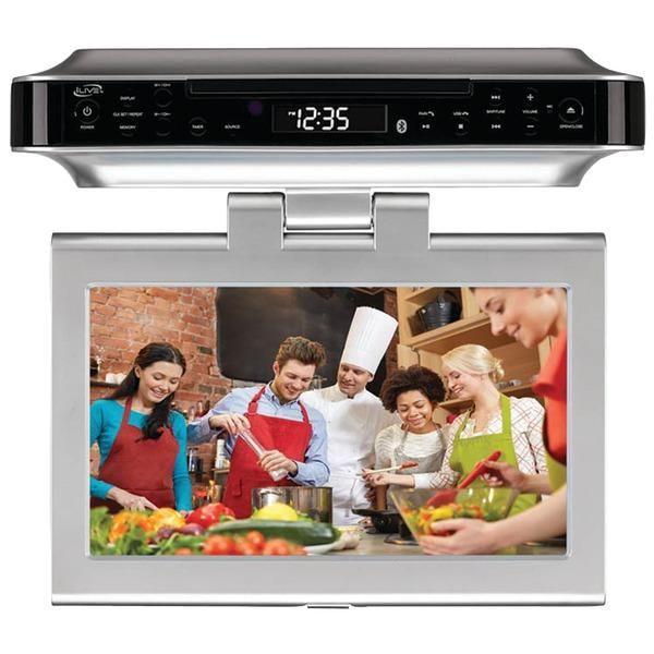 "GPX(R) IKTD1037S 10"" Under-Cabinet DVD-CD Bluetooth(R) Player with FM Radio"