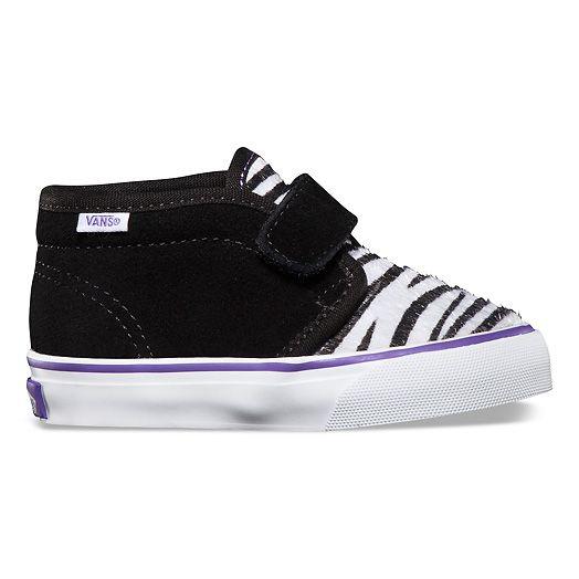 Vans Kids Chukka V Suede Zebra VOKT8U6, paarse vans kinderschoenen met klittenband | x-kds.com 4,5 jaar official online dealer, nieuwe collectie voorjaar 2013....