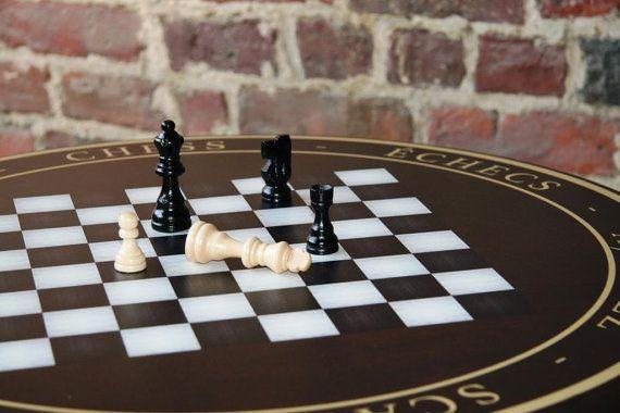 Speltafel schaken speelstukken inbegrepen door MyBistroTable