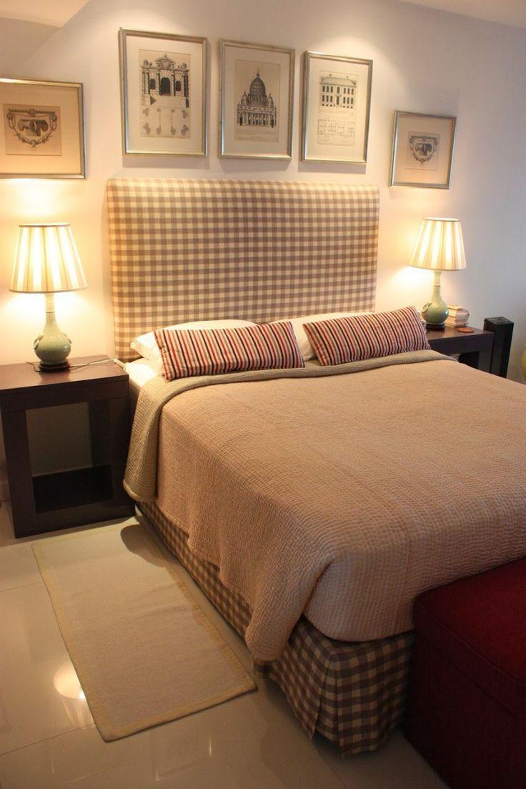 Queen #Size #Bed #Headboard #White #Tile #Flooring #Soft #Carpet