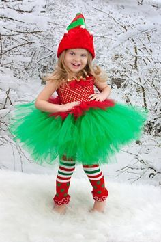 Elfo de Navidad regalos de Navidad traje por AllDressedUpCouture