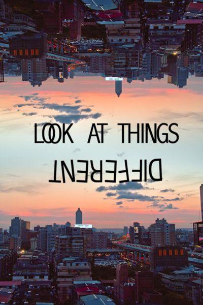 [Look at things]