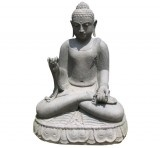Black stone Sitting Buddha