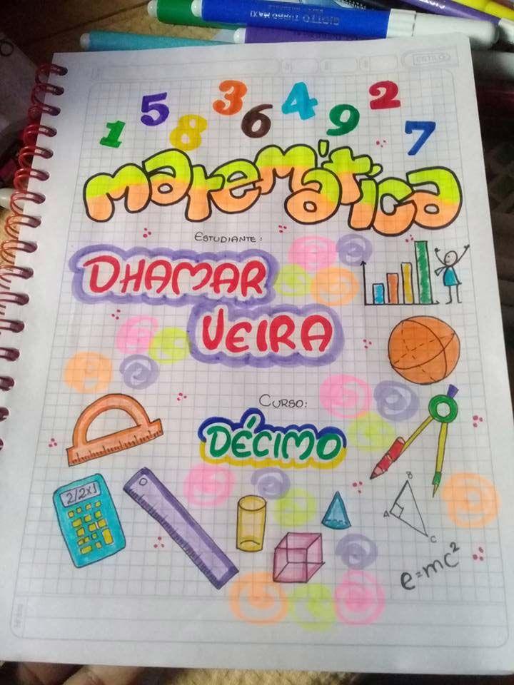 57 Caratulas Para Cuadernos De Matematicas Faciles De Dibujar Foros Ecuador Idea Creativas Border Design Bullet Journal