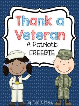 FREE Thank A Veteran pack. Includes letter templates for 4 branches of military as well as a take-home veteran survey.