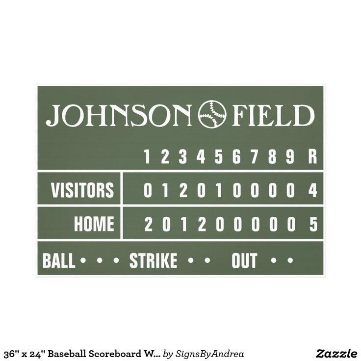 36 X 24 Baseball Scoreboard Wrapped Canvas