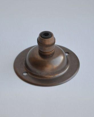Потолочная часть с зажимом для провода, состаренная латунь, 3099H+3202H