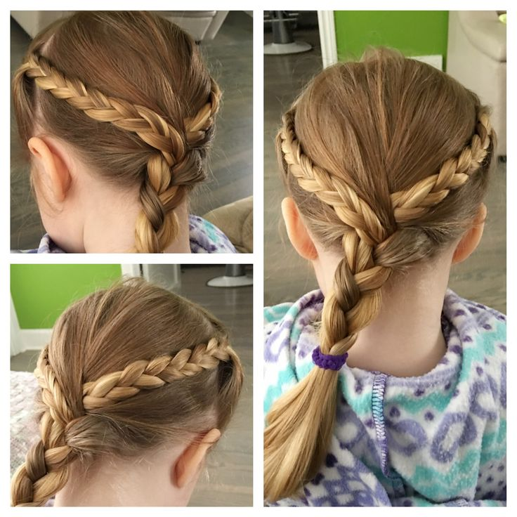 Love doing my little toddlers hair in braids!