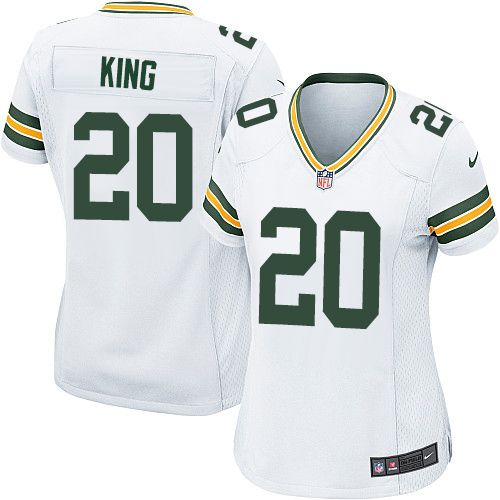Women's Nike Green Bay Packers #20 Kevin King Game White NFL Jersey