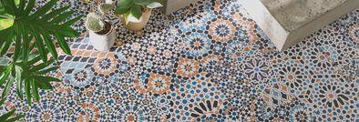 Tapis carreaux de ciment, tapis vinyle – Saint Maclou