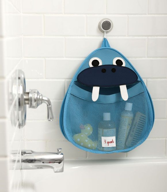 Walrus bath storage hanger - fun & functional!