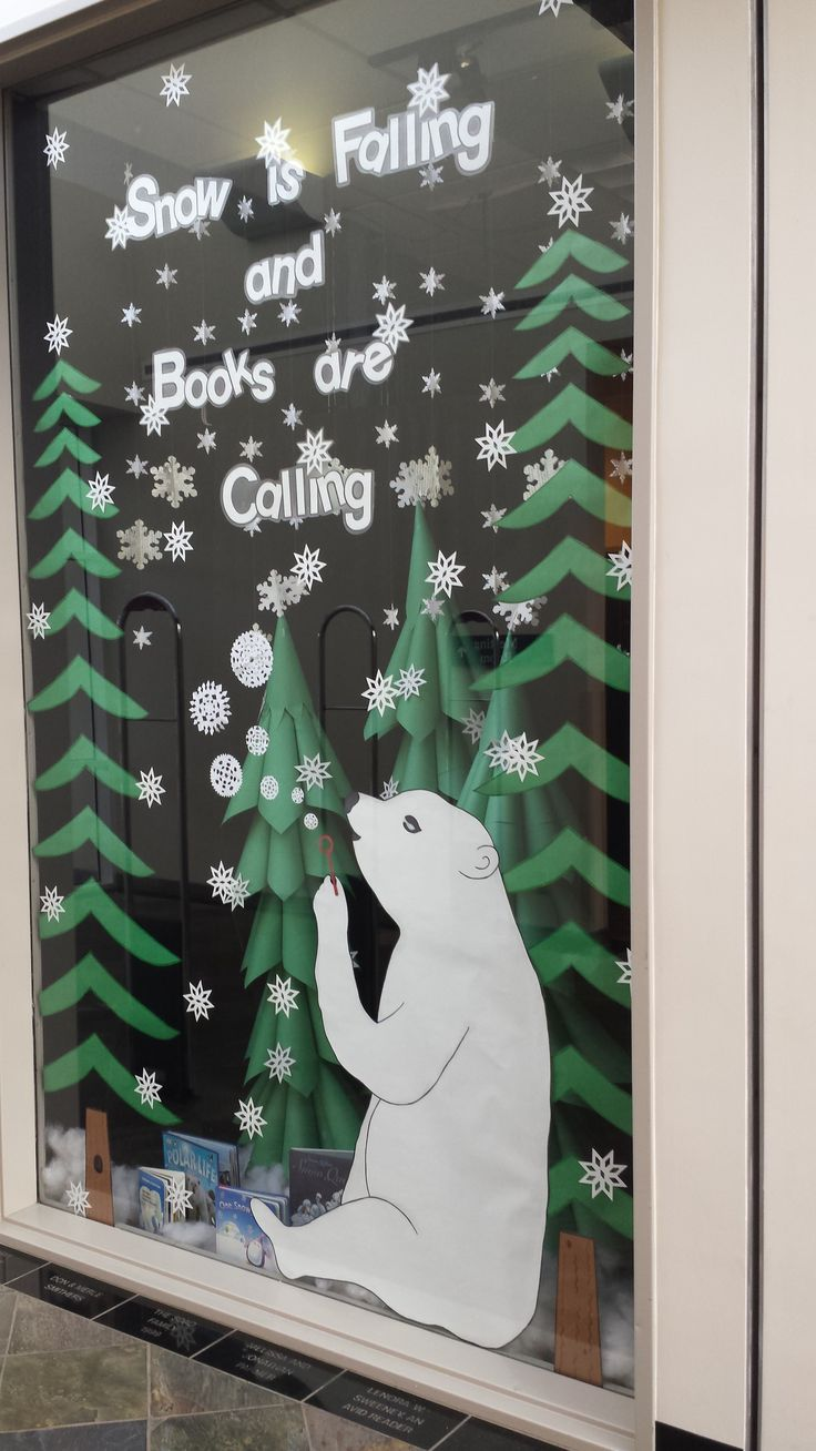 Snow is Falling and Books are Calling library display for winter w/@susanchada