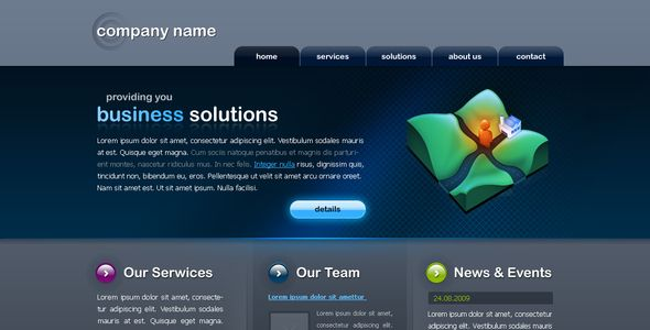 Nice and clean Business Website