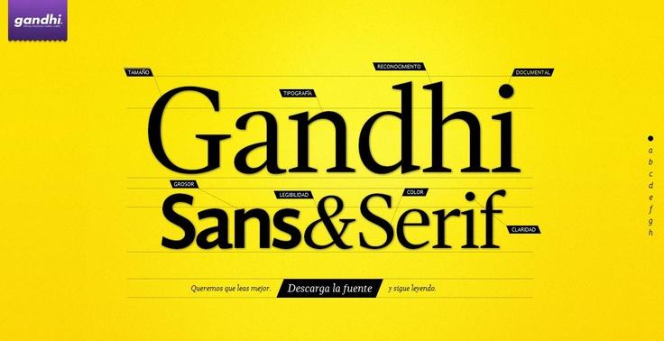 Librerias Ghandi crea su tipografía y la obsequia, avalada por neurólogos, oftalmólogos, editores e impresores,  busca fomentar su uso para la buena lectura. Download Free http://www.tipografiagandhi.com/