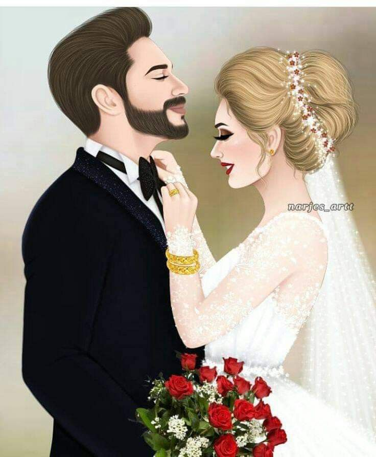 Beautiful Drawing Piicture Wedding Couple Cartoon Cute Couple Drawings Cute Girl Drawing
