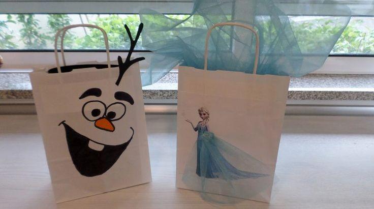 DIY sacos de prendas da Frozen