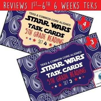 BUNDLE - STAAR WARS 5th Grade Reading Task Cards ~ SETS 1-6