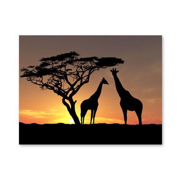 schilderijen-uit-de-wereld-afrika-schilderij-afrikaanse-zonsondergang.jpg (600×600)
