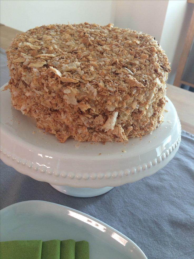 Napoleon in meiner Küche.  Einfache Napoleon Kuchen. Das Rezept findet ihr auf dem Blog der Kuchenfee Lisa