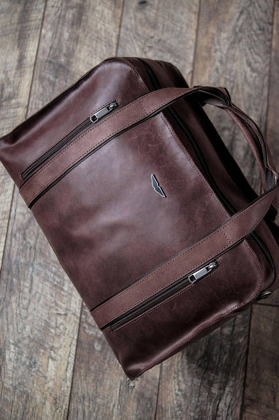 Leather holdall duffle bag Leather travel bag men Leather gym bag ... 8d65ef39c02f8