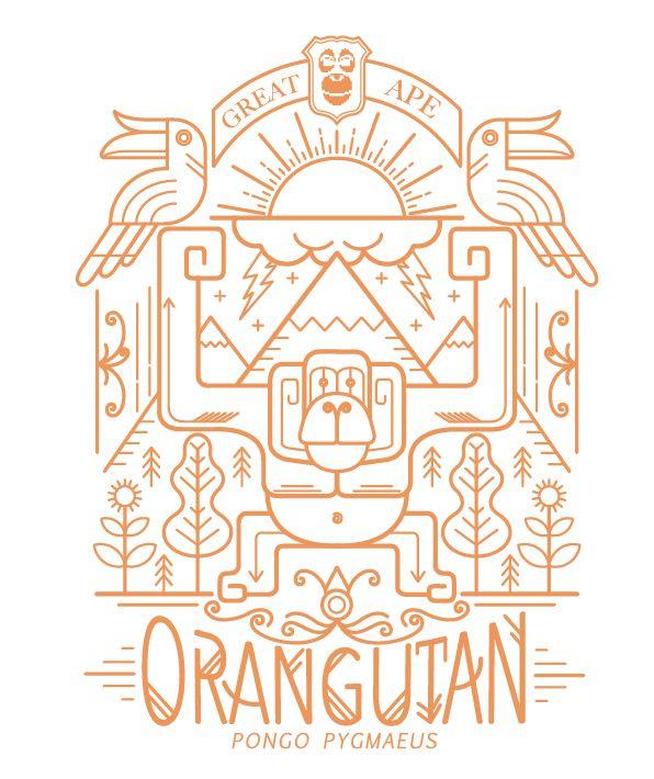 #orangutan #docsick #scandinavian #scandisstyle #lineart #orangutanvector