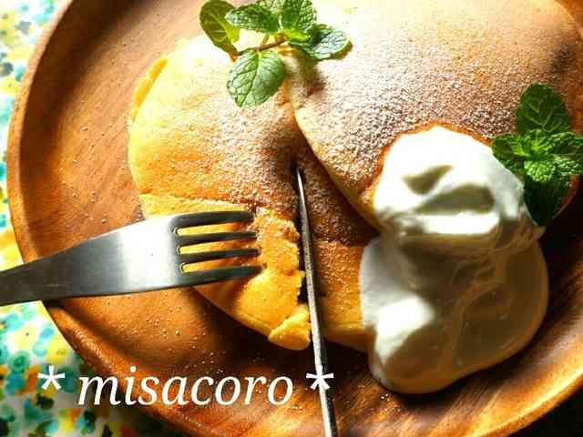 m究極のふわふわスフレパンケーキの画像