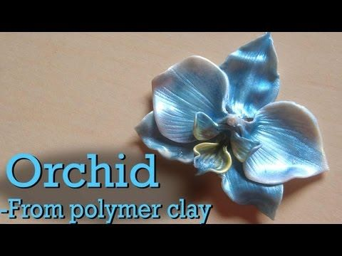 Polymer Clay Orchid Charm Tutorial - YouTube