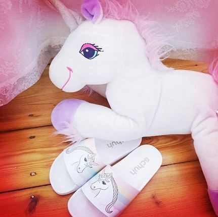 My Little Pony your style icon? The schuh Dream Boat Unicone pool slides are for you. c/o @alexandra_kaetzchen