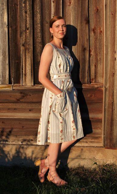 Jenny Olofsson - En Vintage Saga : Min Sommardröm - en 40-tals klänning efter origina... #vintage #dress #40s #sewing #sy #sew #sömnad #blog #blogg