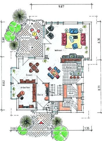 Grundrisse: GUSSEK HAUS     Tessin Ground Floor Plan
