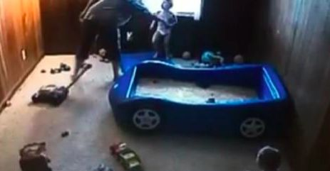 He just knew something was off.  Dad's Intuition Tells Him Some-thing Is Wrong. That's When He Sets Up A Hidden Video Camera…to film their mother. Two days later, mother was arrested on two felony counts of child battery.