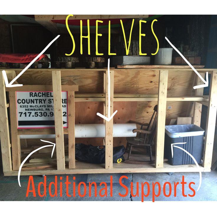 DIY Rolling Lumber Storage Cart The