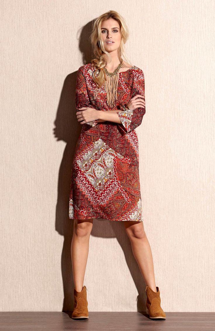 Sukienka we wzory od TrulyMine http://www.halens.pl/moda-damska-rozmiary-specjalne-na-gore-5828/sukienka-brenda-555658?imageId=393872&variantId=555658-0018