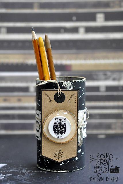 Organizacja: Pojemnik na ołówki Marty / Storage: Marta's pencil holder